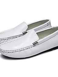 abordables -Homme Chaussures Cuir Printemps Automne Moccasin Mocassins et Chaussons+D6148 Pour Décontracté Blanc Noir Bleu de minuit Bourgogne