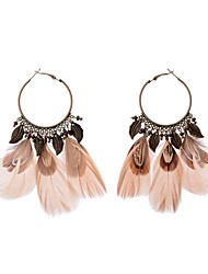 cheap -Women's Drop Earrings - Wings, Feather European, Elegant Blue / Light Pink For Daily / Going out
