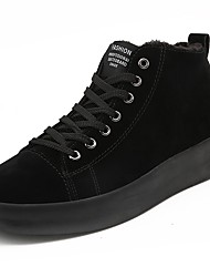cheap -Men's Shoes Nubuck leather Winter Comfort Sneakers for Casual Black Gray