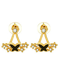 cheap -Women's Stud Earrings Rhinestone Simple Sweet Alloy Bowknot Jewelry For Birthday Gift Casual New Year Christmas
