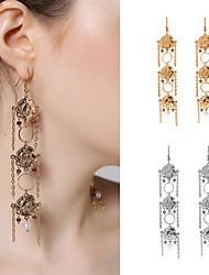 Dame Dråbeøreringe Krystal Mode Personaliseret Krystal Blomstformet Smykker Til Fest Daglig Afslappet Gade