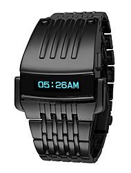 Недорогие -Муж. электронные часы Цифровой Черный / Серебристый металл Защита от влаги Календарь Секундомер Цифровой Роскошь На каждый день Мода Элегантный стиль Рождество - Черный Серебряный / Один год