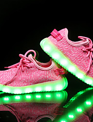 cheap -Girls' Shoes Knit Spring / Fall Light Up Shoes Athletic Shoes LED for Gray / Blue / Pink