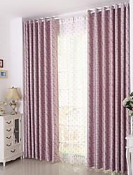 preiswerte -Schlaufen für Gardinenstange Ösen Schlaufen Zweifach gefaltet plissiert Window Treatment Modern, Jacquard Gitter Schlafzimmer Polyester