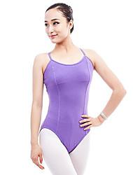 cheap -Ballet Leotards Women's Performance Cotton Split Joint Sleeveless Natural Leotard