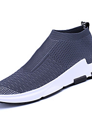 cheap -Men's Shoes Knit Customized Materials Fabric Winter Spring Comfort Athletic Shoes Running Shoes for Athletic Casual Black Gray Red