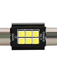 cheap -4x 2018 new  3030LED Error Free White 36MM Festoon License Plate Light Bulb 6SMD C5W 12-24V