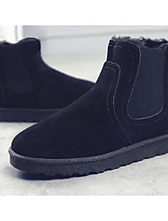 cheap -Men's Shoes Nubuck leather Spring Fall Comfort Snow Boots Boots Mid-Calf Boots for Casual Camel Gray Black