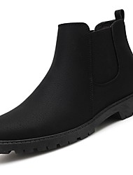 cheap -Men's Fashion Boots Pigskin / PU(Polyurethane) Spring / Fall Comfort Boots Mid-Calf Boots Black / Gray / Red