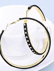 preiswerte -Damen Tropfen-Ohrringe , Modisch Leder Kreisform Schmuck Alltag