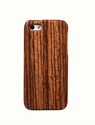 cheap -Case For iPhone 5 Apple iPhone 5 Case Shockproof Back Cover Wood Grain Hard Bamboo for iPhone SE/5s