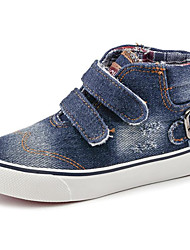 cheap -Girls' Shoes Denim Spring Fall Comfort Sneakers Walking Shoes Magic Tape for Casual Dark Blue Light Blue