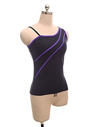 cheap -Figure Skating Top Women's Girls' Ice Skating Top Violet Spandex Stretchy Performance Practise Skating Wear Solid Sleeveless Ice Skating