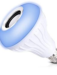 baratos -1conjunto 12W E27 Lâmpada de LED Inteligente A80 1 leds COB Bluetooth Regulável Controle Remoto Decorativa RGB 1000lm 2700-9000