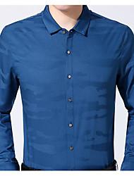 Masculino Camisa Social Casual Moda de Rua Outono,Estampado Poliéster Colarinho de Camisa Manga Comprida Média