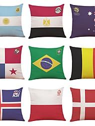 baratos -9 pçs Linho Cobertura de Almofada, Art Deco Bandeiras