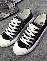 abordables -Mujer Zapatos Tela Otoño Confort Zapatillas de deporte Tacón Plano Dedo redondo para Casual Blanco Negro Amarillo Rojo