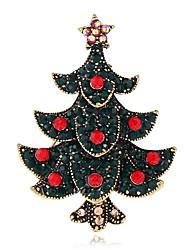 baratos -Mulheres Broches Gema Metálico Fashion Europeu Liga Árvore da Vida Jóias Para Natal Presente