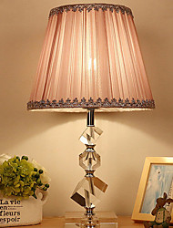 cheap -Metallic Crystal Table Lamp For Crystal 220-240V Light Pink