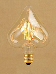 cheap -1pc 40W E26/E27 STAR Warm White 2000 K Decorative Incandescent Vintage Edison Light Bulb AC 220-240V V