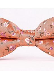 economico -Per uomo Da ufficio Papillon - Poliestere Fiore decorativo