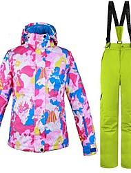 Недорогие -Жен. Лыжная куртка и брюки Теплый Вентиляция С защитой от ветра Пригодно для носки водостойкий Катание на лыжах Разные виды спорта Зимние
