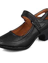 "cheap -Women's Modern Leatherette TPU Heel Training Cuban Heel Black 1"" - 1 3/4"" 2"" - 2 3/4"" Customizable"