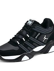 Недорогие -Муж. обувь Тюль Весна / Осень Удобная обувь / сутулятся сапоги Спортивная обувь Для прогулок Черный / Черный и синий / Черный / Красный