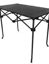 Недорогие -Туристический стол Складной Нержавеющая сталь Алюминиевый сплав для 1 человек Походы Барбекю Осень Весна Черный