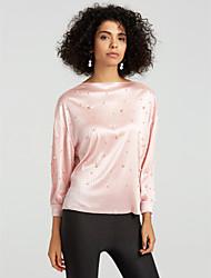 billige -Dame - Ensfarvet Sofistikerede Bluse