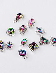 preiswerte -12pcs Mode Farbe Intrige Legierung Juwel Nagel Kunst Dekoration