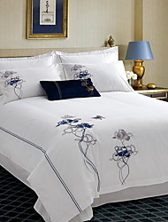 cheap -Luxury Poly/Cotton Jacquard Poly/Cotton 1pc Duvet Cover 2pcs Shams 1pc Flat Sheet