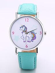 cheap -Men's Women's Casual Watch Fashion Watch Wrist watch Chinese Quartz N/A PU Band Casual Minimalist Elegant Black Orange Green Purple