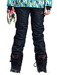 baratos -Mulheres Calças de Esqui A Prova de Vento, Prova-de-Água, Quente Acampar e Caminhar / Esqui / Exercicio Exterior Náilon Chinês Calças de babador de neve Roupa de Esqui