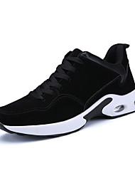 Недорогие -Муж. обувь Кожа ПВХ  / Искусственное волокно Весна / Лето / Осень Удобная обувь Спортивная обувь Беговая обувь Черный / Серый /