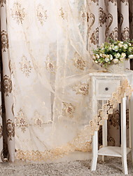 cheap -Grommet Top Double Pleat Pencil Pleat Curtain Modern Floral Living Room Polyester Blend Material Sheer Curtains Shades Home Decoration