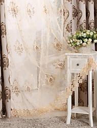 preiswerte -Ösen Zweifach gefaltet plissiert Window Treatment Modern Blumen Wohnzimmer Polyester Mischung Stoff Gardinen Shades Haus Dekoration