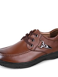 cheap -Men's Shoes Real Leather Nappa Leather Cowhide Spring Fall Comfort Formal Shoes Oxfords for Casual Office & Career Black Brown