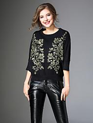 economico -T-shirt Per donna Con ricami, Fantasia floreale