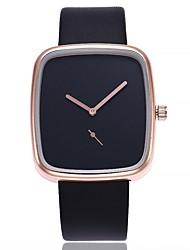 Недорогие -Жен. Модные часы Китайский Кварцевый Крупный циферблат PU Группа На каждый день минималист Черный Белый Коричневый Серый
