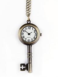 Недорогие -Для пары Кварцевый Карманные часы Китайский С гравировкой Повседневные часы сплав Группа На каждый день Череп Cool Бронза