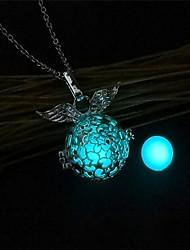 cheap -Women's Pendant Necklace / Lockets Necklace - Fashion, Luminous Luminous Orange, Light Blue, Light Green Necklace Jewelry One-piece Suit For Christmas, Bar
