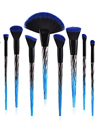 economico -10 pezzi Pennello da fondotinta Pennello per polveri Pennello per labbra Pennello per ombretto Pennello per cipria Set di pennelli
