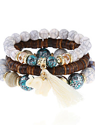 cheap -Women's Charm Bracelet Bracelet Turquoise Multi-stone Bohemian Ethnic Crystal Resin Turquoise Jewelry Going out Street