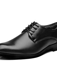 cheap -Men's Shoes PU(Polyurethane) Winter Comfort / Fluff Lining Oxfords Black / Party & Evening