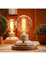 Luz Ambiente Rústico/Campestre Luminária de Mesa Proteção para os Olhos Interruptor On/Off Alimentação AC 220V Amarelo Escuro