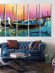 preiswerte -Leinwanddruck Modern, Fünf Panele Segeltuch Vertikal Druck Wand Dekoration Haus Dekoration