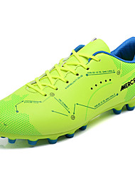 cheap -Men's Shoes Rubber Spring Fall Comfort Athletic Shoes Soccer Shoes Booties/Ankle Boots Ribbon Tie for Outdoor Blue Green Red Yellow