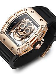 Недорогие -Муж. Спортивные часы Часы со скелетом Наручные часы Кварцевый силиконовый Черный Творчество Фосфоресцирующий Cool Аналоговый Роскошь Винтаж На каждый день Череп Мода -  / Нержавеющая сталь / Два года