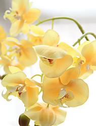 Недорогие -1 Филиал Пластик Орхидеи Букеты на стол Искусственные Цветы